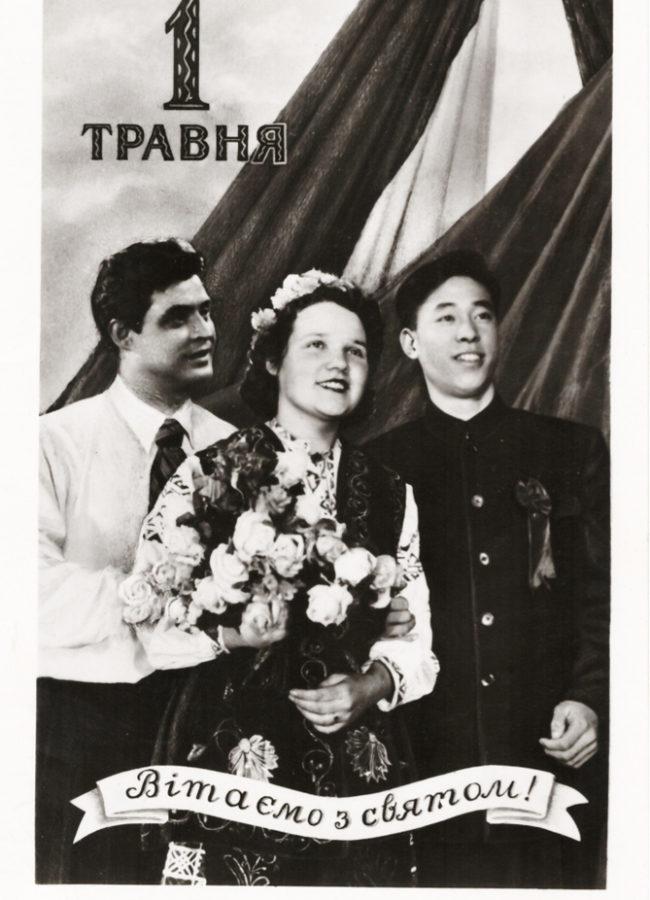 Украинская ч-б фотооткрытка 1957 г., фото Я. Паволоцького.